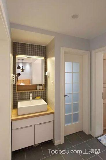 2019现代中式卫生间装修图片 2019现代中式浴室柜装修图片