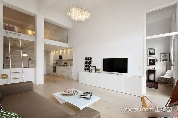 现代简约风格 简洁白色 80平二居室loft清爽设计