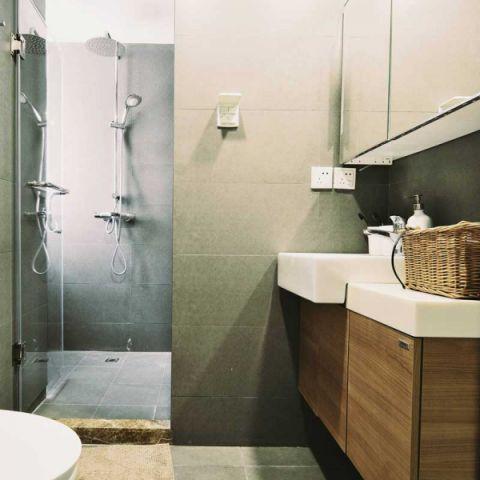 休闲咖啡色浴室柜设计方案