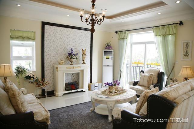 113平米二居室田园风格室内装修设计