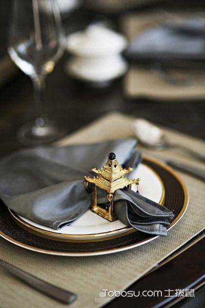 中式与欧式混搭风格古典奢华别墅装潢设计_装修图片