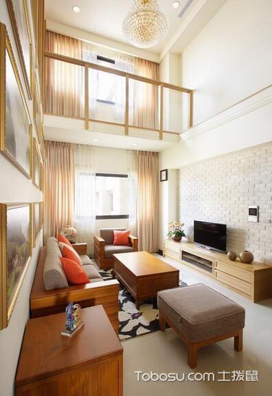 中式禅意复式两居装修设计_装修图片