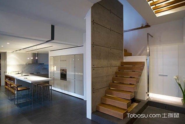 在家也能亲近自然 15款原木镂空简约楼梯 _装修图片