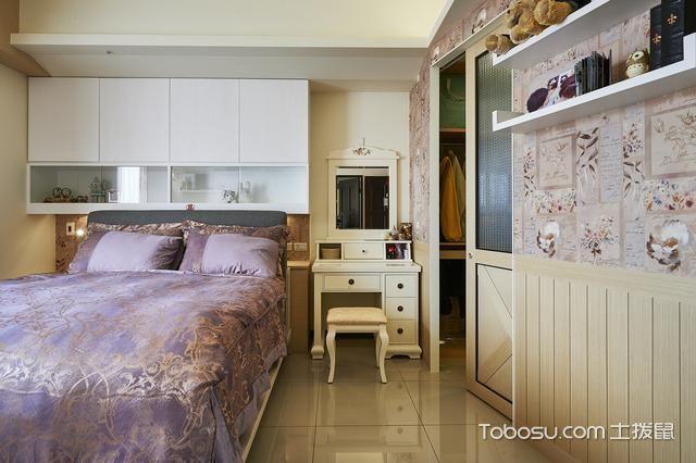 原木色另类两室一厅案例_装修图片