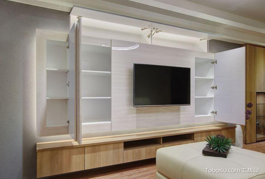 2020现代客厅装修设计 2020现代电视柜装修效果图片