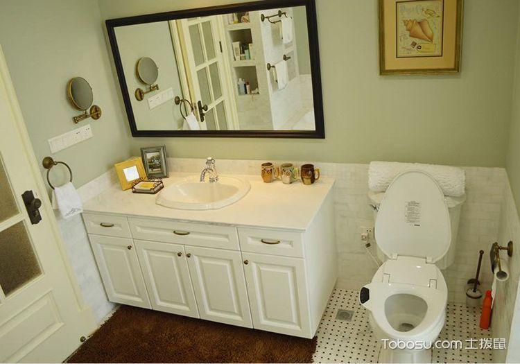 2019混搭卫生间装修图片 2019混搭浴室柜装修图片