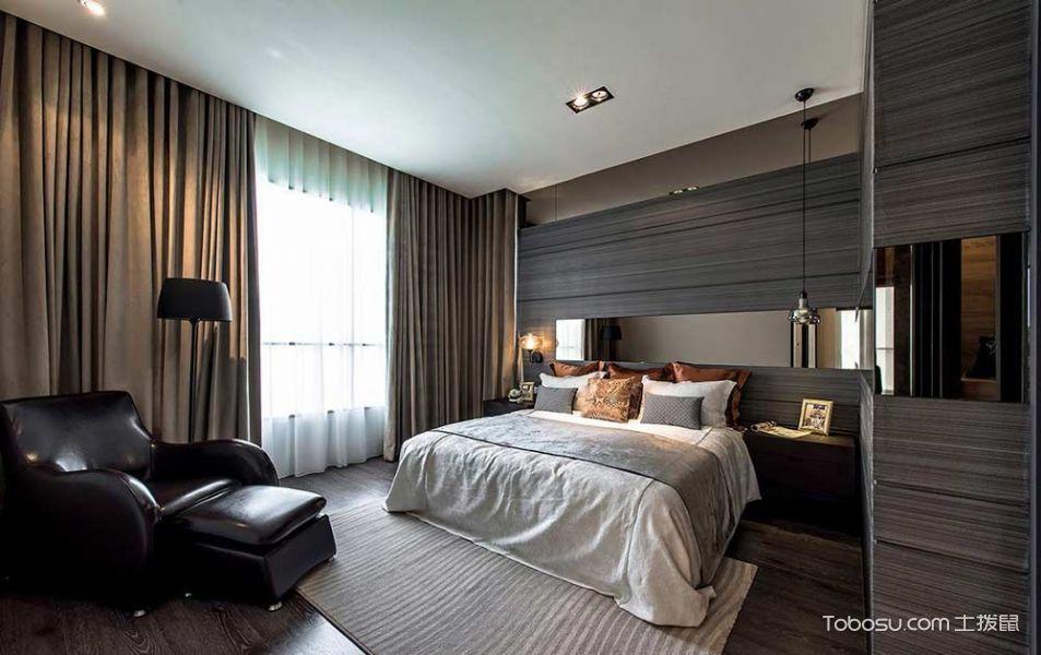雅致现代风格120平两居室装潢案例_装修图片