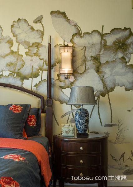 2019中式卧室装修设计图片 2019中式床头柜装修设计图片