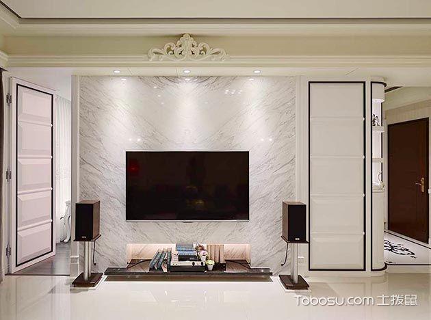 2019新古典客厅装修设计 2019新古典电视背景墙装修设计图片