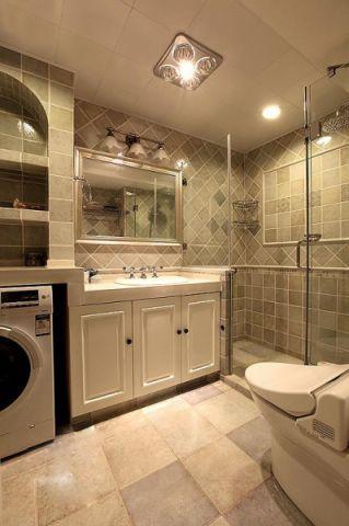 美观大方米色卫生间设计