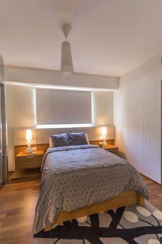 卧室床头灯吊顶现代案例图