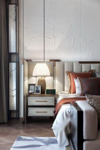 独具一格米色卧室床头灯装饰设计