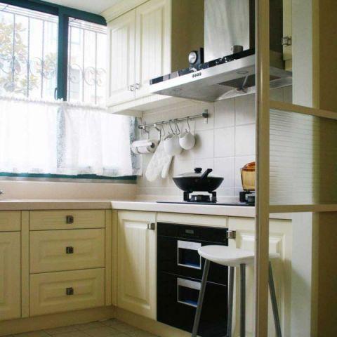 2019现代中式厨房装修图 2019现代中式橱柜装修效果图片