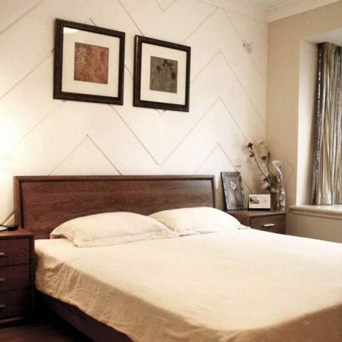 2019现代中式卧室装修设计图片 2019现代中式床图片