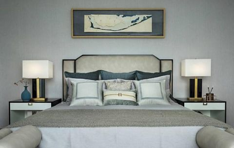 精美绝伦灰色卧室床头灯装修效果图大全