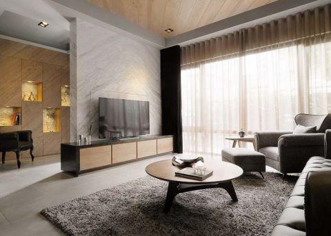 126平米二居室现代简约风格装修案例