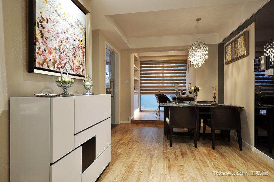 新古典风格三居室精致装潢_装修图片 - 装修效果图