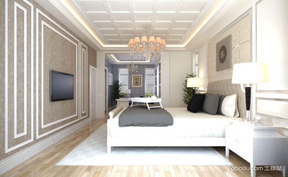 新古典白色奢华别墅效果图_装修图片 - 装修效果图