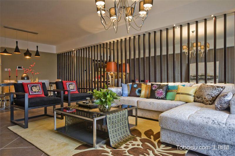 心如素简,183平米新中式混搭风格公寓_装修图片