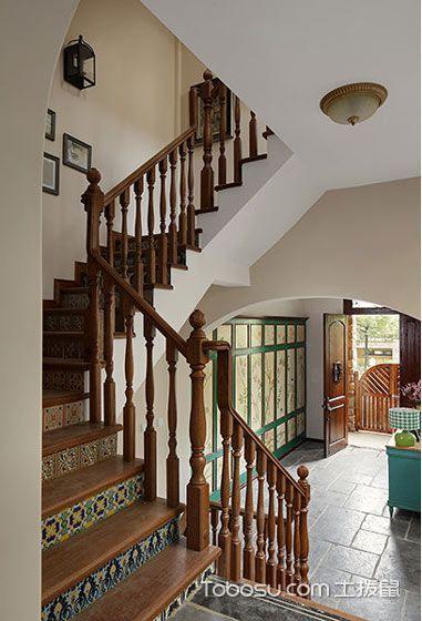 2021古典玄关图片 2021古典楼梯装修图