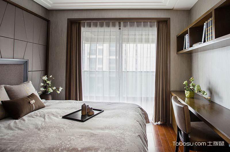 现代中式三居室装修设计效果图_装修图片 - 装修效果图