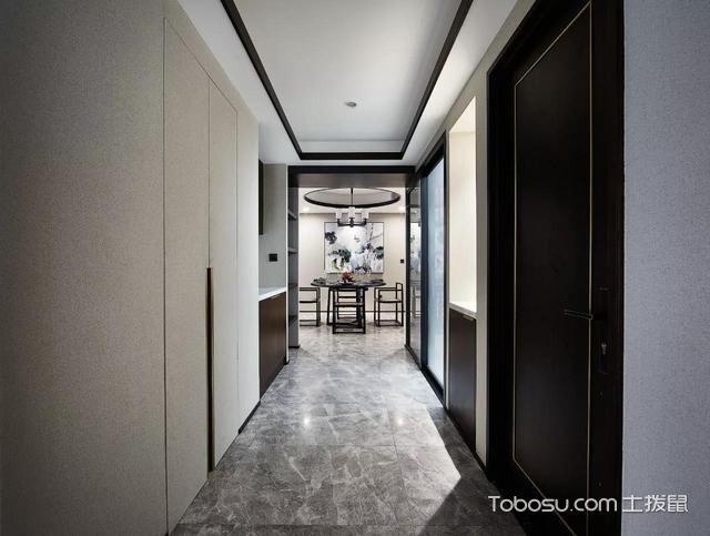 2019现代中式玄关图片 2019现代中式走廊装修效果图片