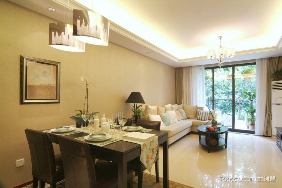 二居室91平米现代风格效果图