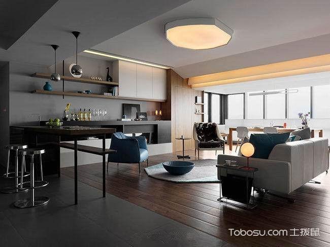 套房104平米现代简约风格设计图片