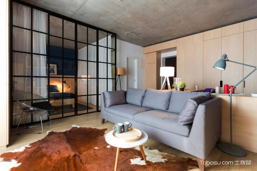 114平米公寓现代简约风格设计图欣赏