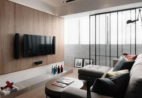 质感宜家咖啡色电视背景墙设计图欣赏
