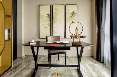 2019现代中式书房装修设计 2019现代中式书桌图片