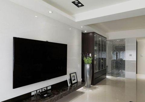 完美白色客厅装修美图