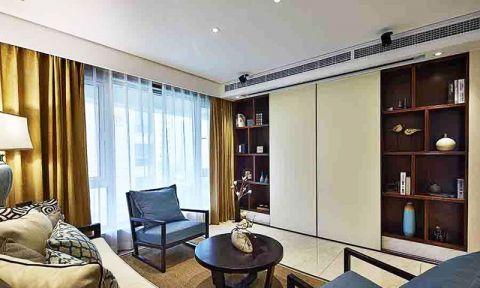客厅窗帘新中式设计方案