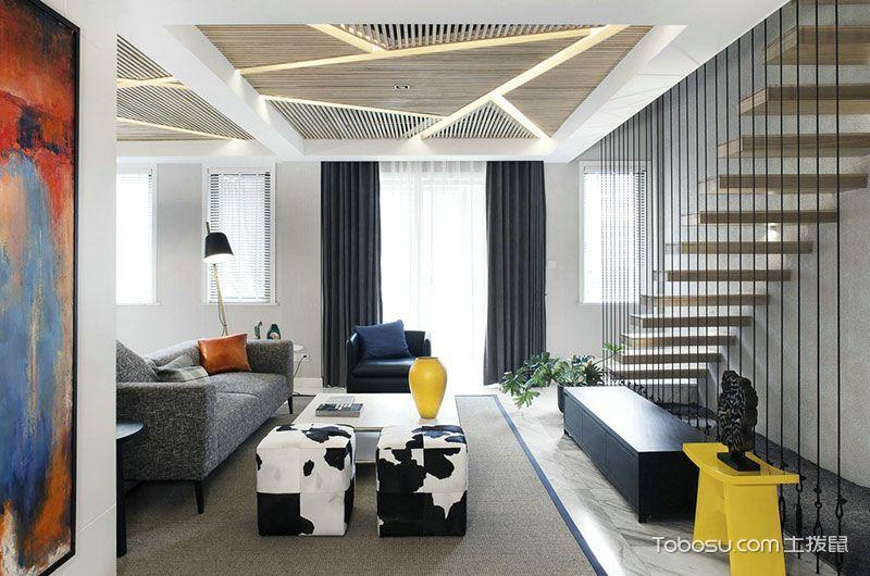 复式140平米现代简约风格设计图
