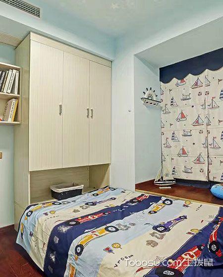 2019现代简约儿童房装饰设计 2019现代简约衣柜设计图片