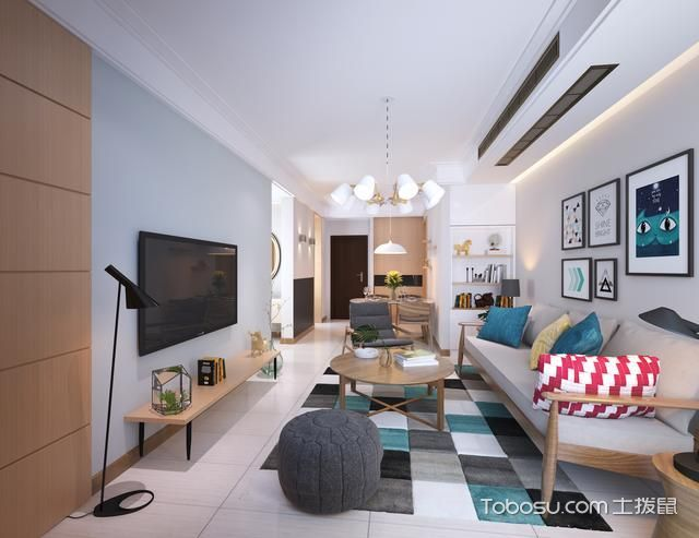 2021现代简约60平米以下装修效果图大全 2021现代简约二居室装修设计