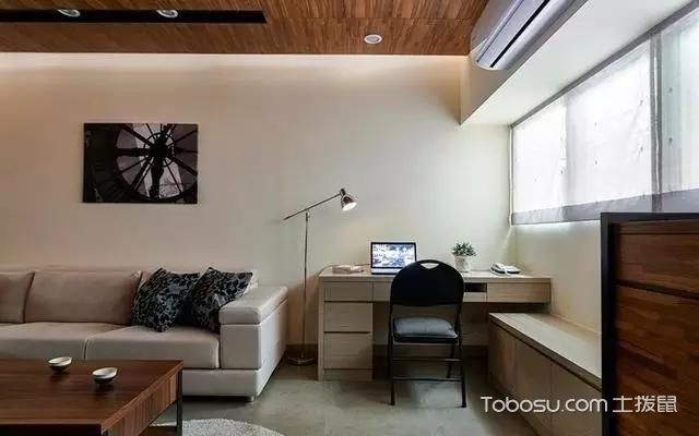 2019现代客厅装修设计 2019现代书桌装修图片