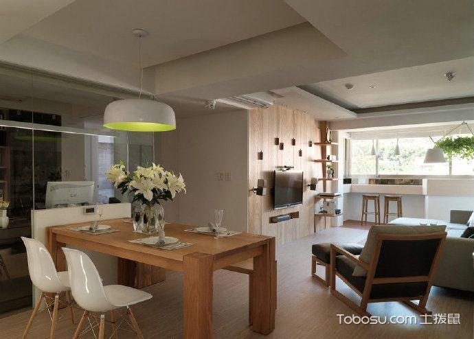 温暖舒适76平米简约风格两室两厅_装修图片