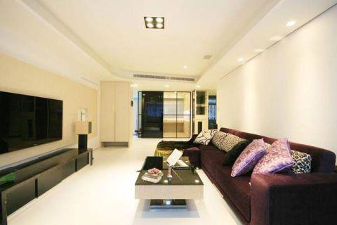 现代简约风格小户型85平米家装设计图
