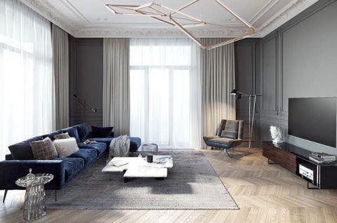 2019现代简约150平米效果图 2019现代简约公寓装修设计