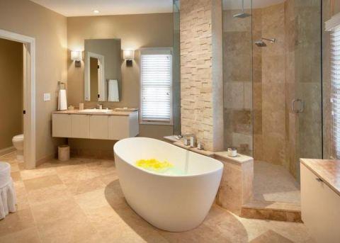 简洁浴缸装修图