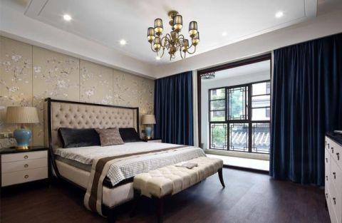设计优雅卧室窗帘装修案例图片