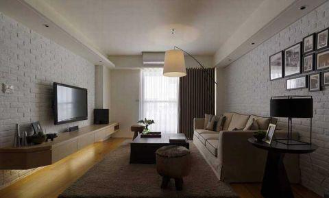 简约客厅窗帘装饰实景图片