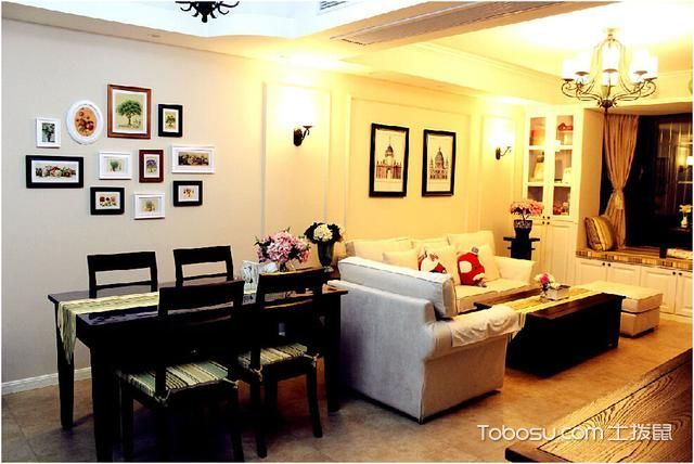 70平米小户型美式风格室内装修图片