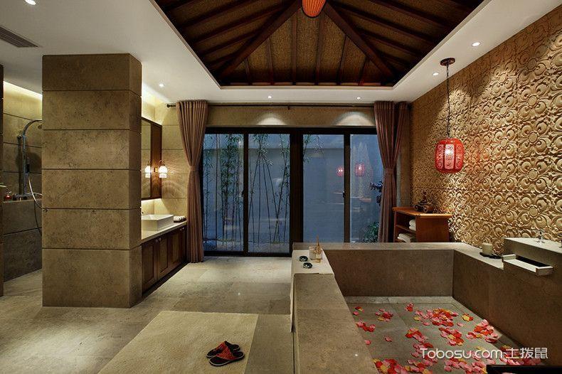 2019东南亚浴室设计图片 2019东南亚浴缸装修效果图大全