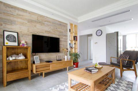 2019日式客厅装修设计 2019日式电视背景墙装修设计图片