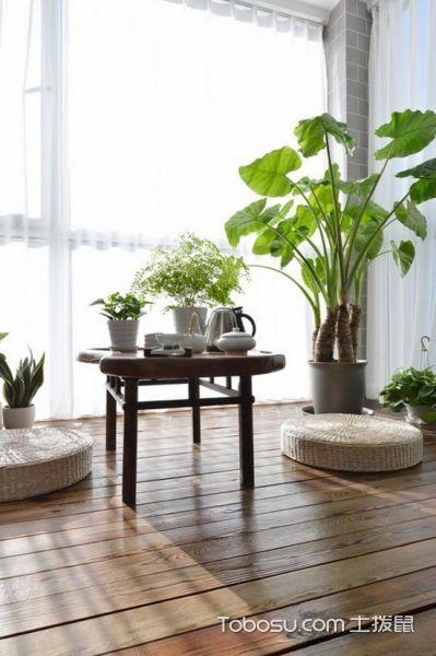 2020现代中式阳台装修效果图大全 2020现代中式榻榻米装饰设计