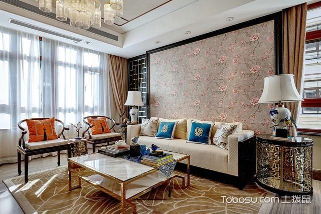 新中式风格二居室115平米装修