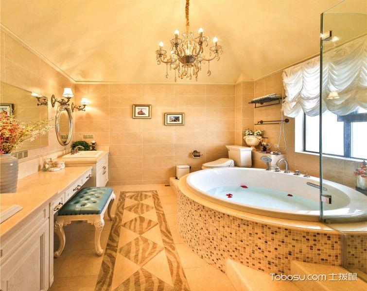 2019欧式浴室设计图片 2019欧式浴缸装修效果图大全