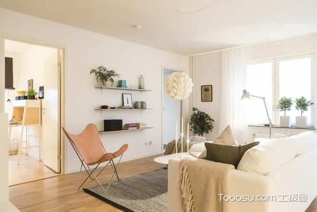 暖色北欧公寓温暖好看_装修图片